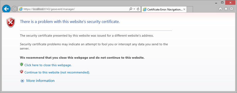 Optional: Marking the self-signed GeoEvent Server certificate as ...