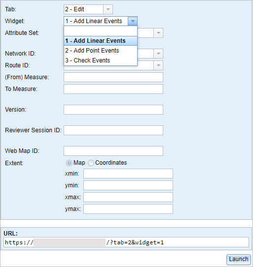 Smart launching in the Event Editor through URL parameters