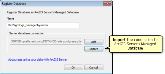 Register your data with ArcGIS Server using ArcGIS for Desktop
