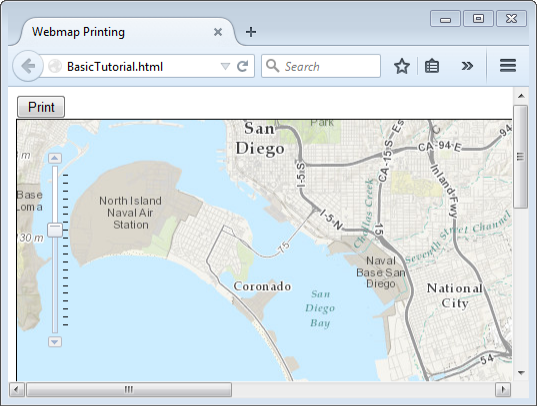 Tutorial: Print a web map and export a vector output PDF