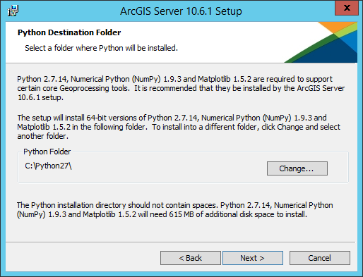 Install ArcGIS Server on one machine—ArcGIS Server (Windows